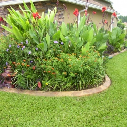 Granite-Look-Concrete-Edging-Enhances-The-Beauty-Of-This-Homes-Landscaping