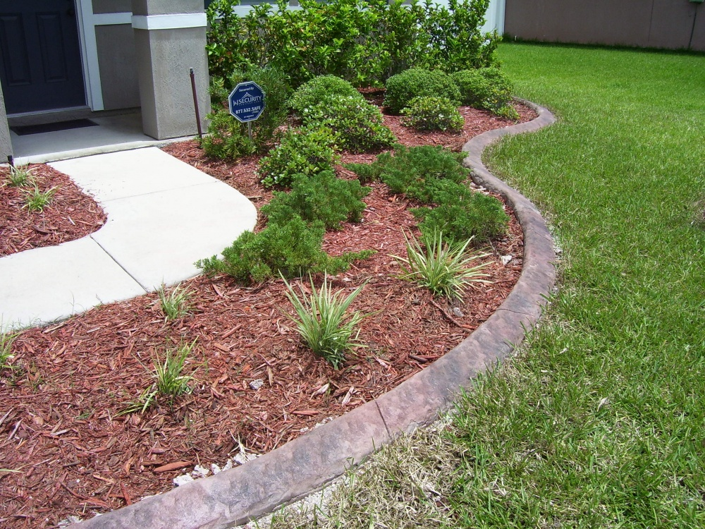 Best concrete edging in jacksonville for Landscaping rocks jacksonville